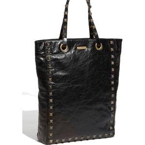 Rebecca Minkoff 'Toki' Studded Black Leather Tote